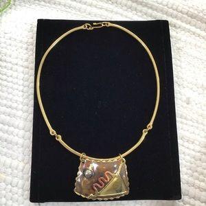 Copper & Bronze Modern Necklace